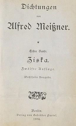Titulní list a obálka (1884)