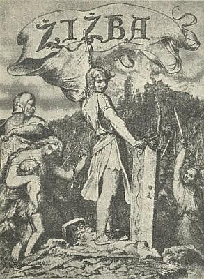 Kresba Josefa Mánesa k Špindlerově českému překladu Meisnerova Žižky