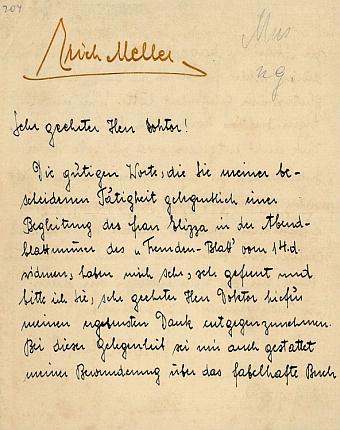 Originál jeho dopisu Batkovi