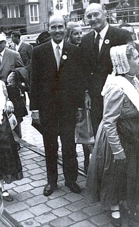 S Otto von Habsburgem na 22. Sudetoněmeckém sněmu v Norimberku roku 1971