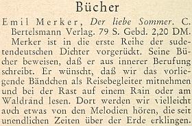 Zpráva o jeho nové knize na stránkách krajanského měsíčníku z května roku 1955
