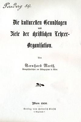Titulní list (1908) jeho práce