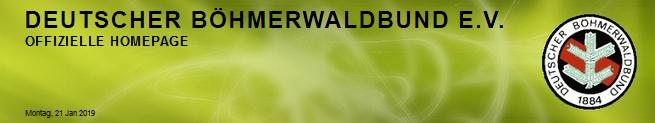 Záhlaví webových stránek Deutscher Böhmerwaldbund
