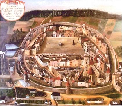 ... kterou ovšem mohlo být i toto staré vyobrazení z téže doby, také ze sbírek Prachatického muzea