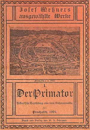 Obálka prvého svazku obnoveného vydání jeho vybraných spisů (1924)
