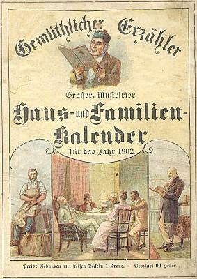 Obálka vimperského Steinbrenerova kalendáře s jeho humornou povídkou