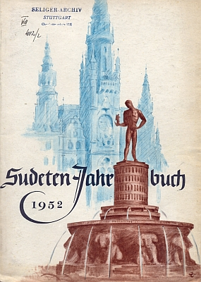 Jeho nejznámnější asi dílo jako motiv obálky sociálně demokratické krajanské ročenky (1952)