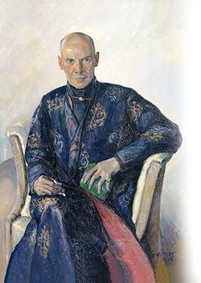Na portrétu z roku 1919, jehož autorem je Alexander Wittek