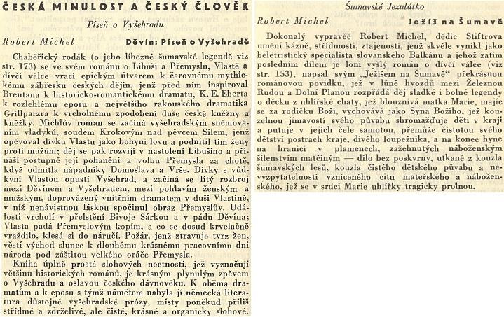 O jeho dvou hned knihách takto kladně referoval ve sborníku Co číst z literatur germánských (1935) Pavel Eisner