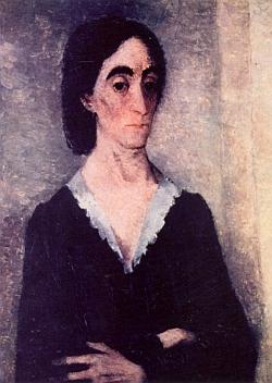 Potrtét jeho ženy Eleonor, roz. Snížkové, je dílem Vilmy Vrbové-Kotrbové (1905-1993) z roku 1943