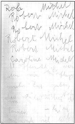 Pokusy psát po záchvatu mrtvice v deníku z roku 1954