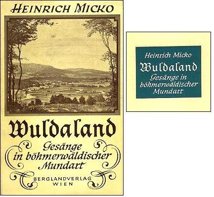 Obálka a výřez z vazby knihy vydané Bergland-Verlag ve Vídni(1959)