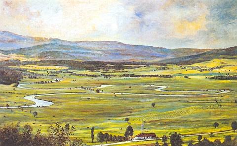 Srdce Vltavy na malbě K. H. Müllera