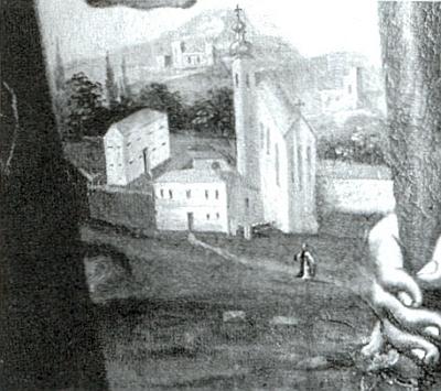 Zpodobení kostela v Přední Výtoni při řece Vltavě na mapě z roku 1597 a jiné i s mnišskou postavou na obrazu z jeho někdejšího oltáře (je datováno rokem 1788) doprovázejí jiný Miesbauerův článek v krajanském měsíčníku