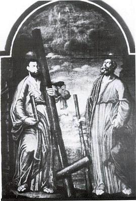 Do rodácké knihy o Přední Výtoni napsal iotomto obraze v sakristii tamního kostela,     který snad pochází z kostela sv. Jana a Pavla viozaniklé osadě Kapličky