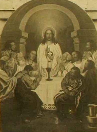 Jeho obraz Poslední večeře Páně, který vytvořil za svého působení v Rychnově nad Malší pro jednu z místních kaplí