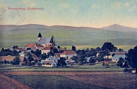 Malonty na staré kolorované pohlednici