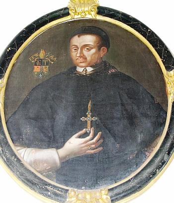 Potrét opata Franze rytíře von Wendschuha z kláštera ve Vyšším Brodě