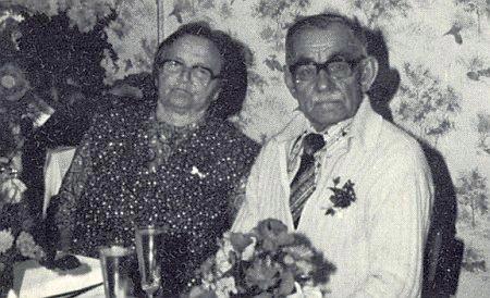 Zlatá svatba jeho rodičů Johanna a Johanny Mikschofskych v říjnu 1983