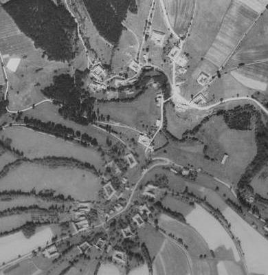 Jaroměř na leteckých snímcích z let 1952 a 2008