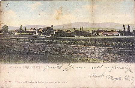 ... a vzácná stará pohlednice z německy mluvících dosud Strýčic s číselným označením a datací edice Böhmerwald-Verlag krumlovského Josefa Seidela