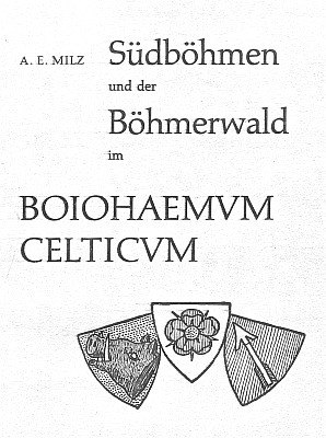 Titulní list jeho vzácné knihy (1974, Verband der Böhmerwäldler in Oberösterreich)...