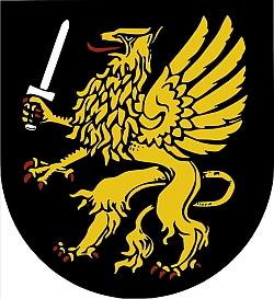 """Znak města Schramberg ve Schwarzwaldu, podle pamětní knihy """"Budweis : Budweiser und Stritschitzer Sprachinsel"""" Minkova rodiště"""