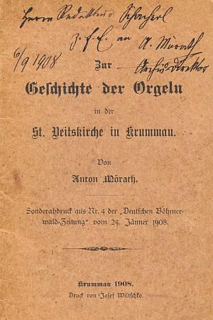 Obálka jeho knihy s věnováním a vlastnoručním podpisem