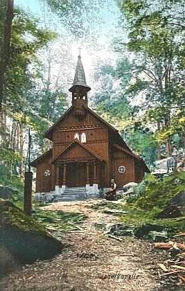 Stožecká kaple na staré pohlednici