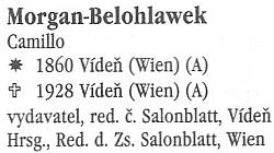 Takto je zmiňován v soupisu korespondence Společnosti pro podporu německé vědy, umění aliteratury v Čechách