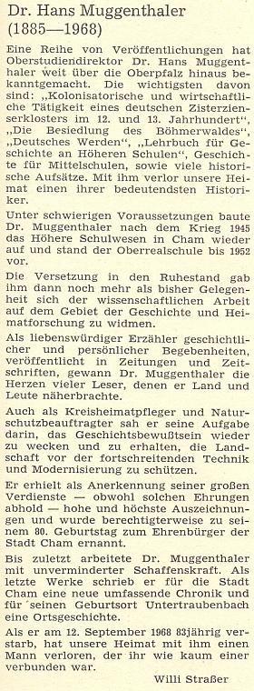 """Jeho nekrolog napsal pro časopis """"Der Bayerwald"""" WilliStraßer"""