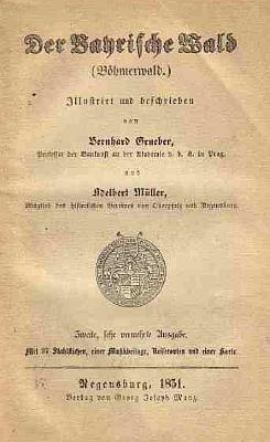 Titulní list pamětihodného díla (1851), které napsal spolu sBernardem Grueberem