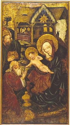 Obraz Klanění Tří králů, pocházející někdy z let 1430-1440, zakoupilo českobudějovické muzeum kolem roku 1880 na Želnavsku za 70 zlatých