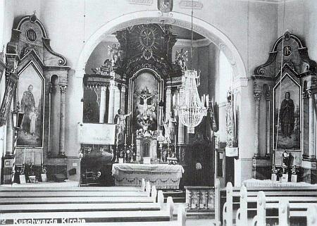 Interiér někdejšího farního kostela v jeho rodném Kunžvartě (dnes Strážný) a Madona se svatozáří rovněž z inventáře téhož domu Božího, stojící dnes v replice Stožecké kaple v bavorském Philippsreutu (viz iHugo Rogmans)