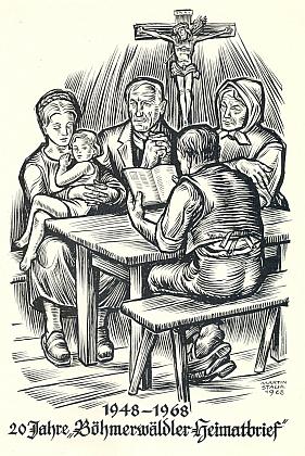 Kresba Martina Stachla ke dvacátému výročí BHB vjubilejním čísle 6 ročníku 1968