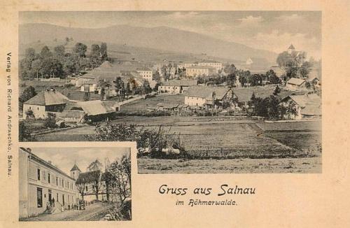 Želnava na staré pohlednici