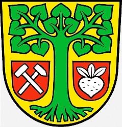 Znak obce Rüdersdorf, jejíž jméno připojil ke svému příjmení