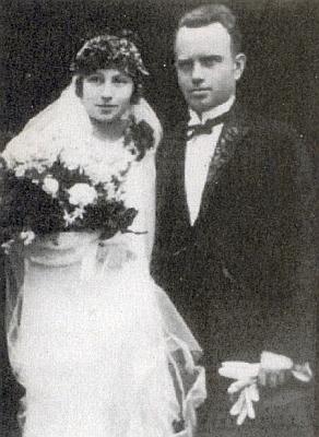 Svatební foto z roku 1925