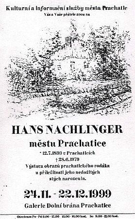 Plakát k jubilejní výstavě v Prachaticích