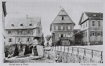Stará pohlednice z rodného Bodenheimu