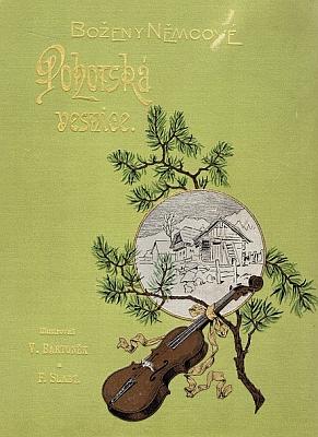 Obálka vydání Pohorské vesnice z roku 1892 (I.L. Kober, Praha)
