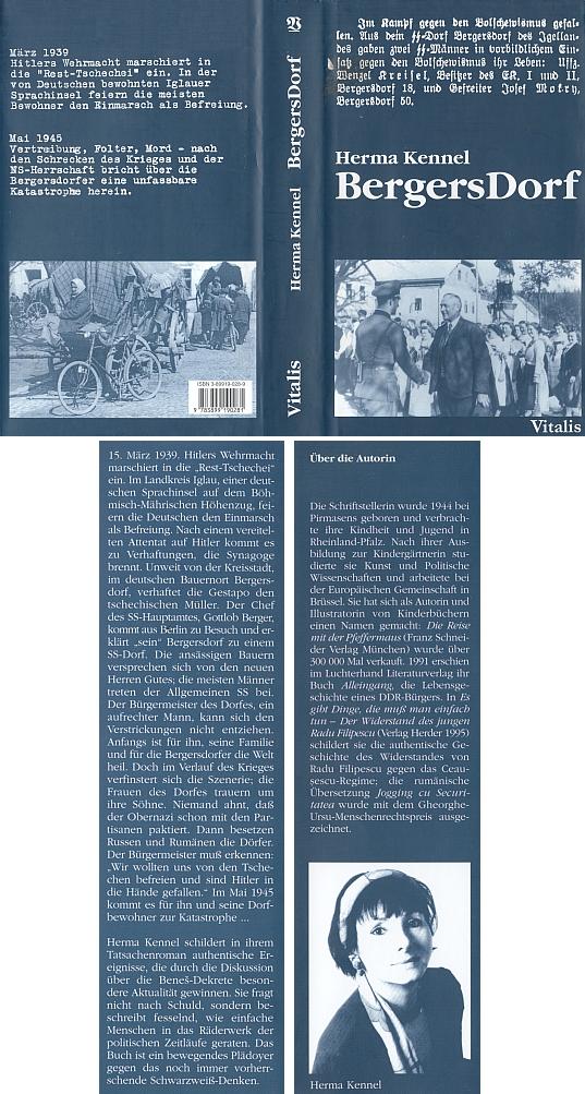 Obálka (2003) knihy o neuvěřitelných osudech jeho rodné vsi vydané pražským nakladatelstvím Vitalis