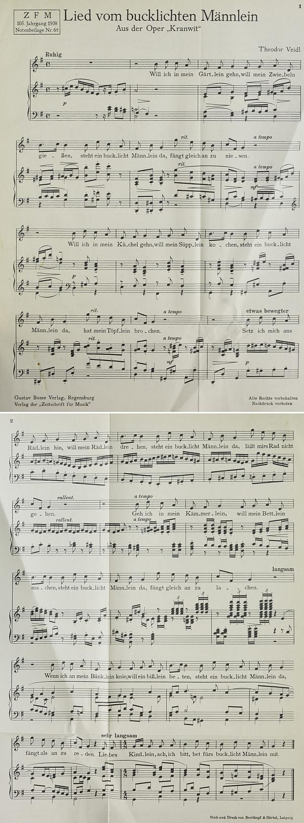 """Dva notové listy jsou jediným dobovým záznamem k jinak dnes ztracené hudbě opery """"Kranwit"""" na Watzlikovo libreto"""