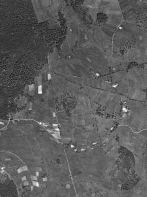 Dolní Světlé Hory na leteckých snímcích z let 1949 a 2008