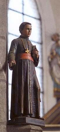 Soška sv. Jana Nepomuka Neumanna v prachatickém kostele sv. Jakuba...