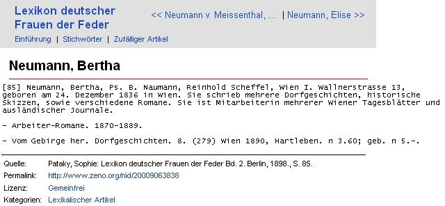"""Její heslo z lexikonu """"německých žen pera"""""""