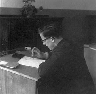 Na gymnáziu v bavorském Landshutu roku 1952
