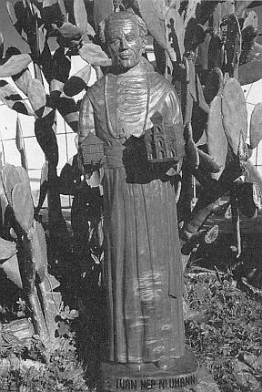 Socha svatého biskupa Jana Nepomuka Neumanna, vysvěcená v jeho bolivijském působišti v Urubichá počátkem roku 1992
