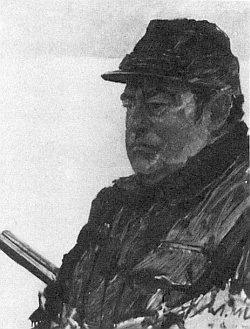 Jeho portrét bavorského premiéra Franze Josefa Strausse v loveckém úboru