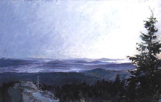 Východ slunce na Hochsteinu na obraze W. Niedla